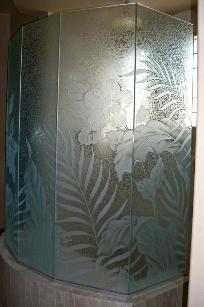 Kiln Cast Glass Heavy Glass Showers Water Walls Le Blancs